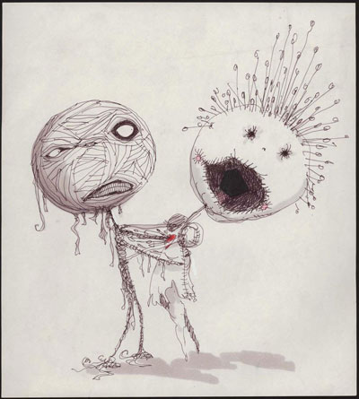 Dibujado por Tim Burton